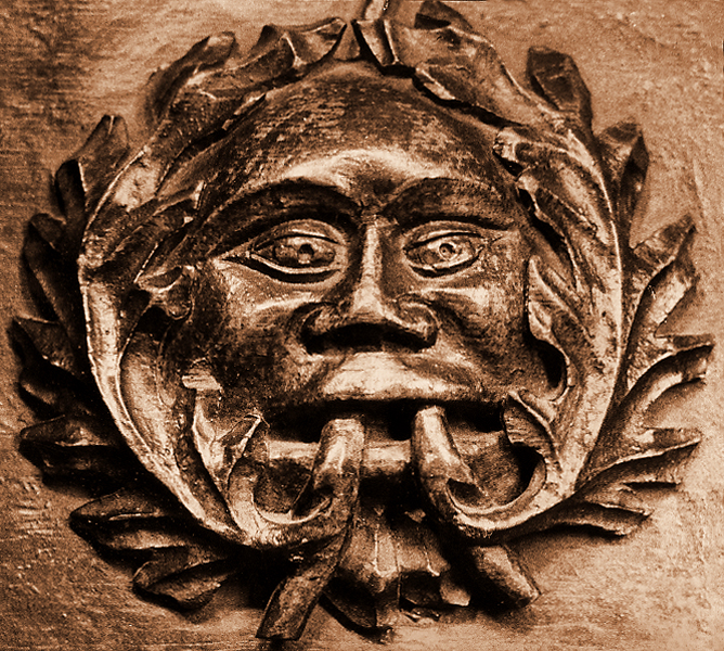 Green Man carving Ludlow