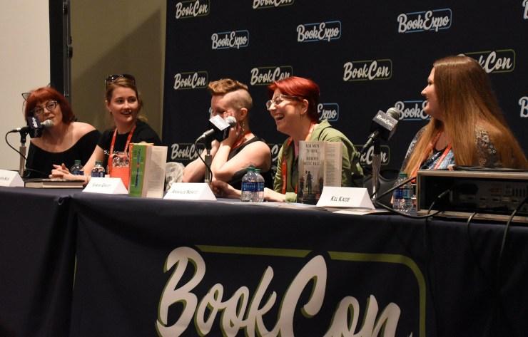 BookCon Tor Presents Magic x Mayhem Sarah Gailey Annalee Newitz Kel Kade V.E. Schwab Charlie Jane Anders Tamsyn Muir