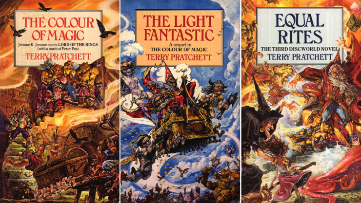 expansive SFF series 9+ books Discworld