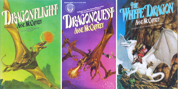 expansive SFF series 9+ books Dragonriders of Pern