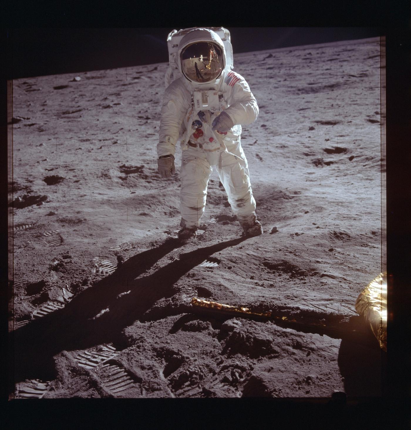 Buzz Aldrin Neil Armstrong moon landing NASA