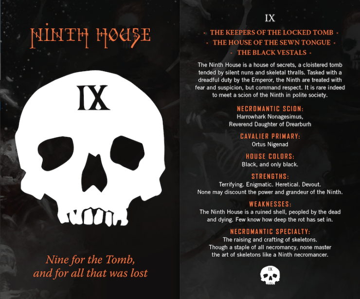 Gideon the Ninth, Ninth House postcard