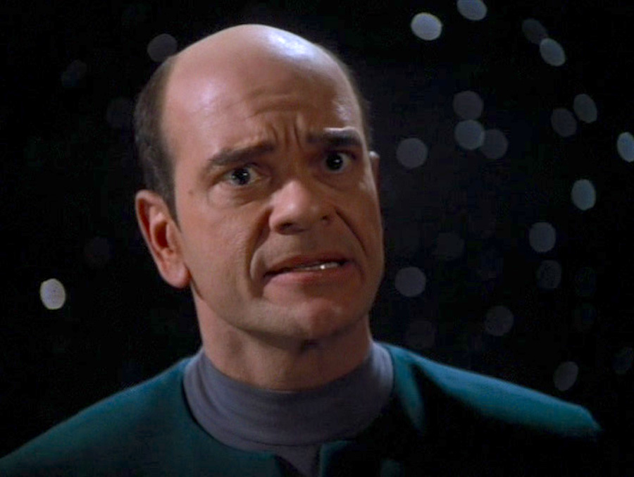 Robert Picardo as the Doctor in Voyager episode Living Witness