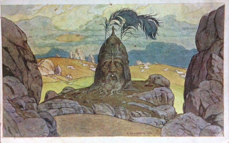 "Illustration of ""Ruslan and Myudmila"" opera set design by Ivan Bilibin"