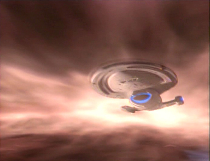 The USS Voyager in Star Trek: Voyager