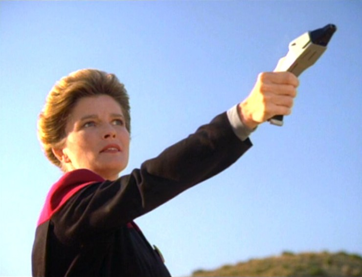 Captain Janeway (Kate Mulgrew) in Star Trek: Voyager