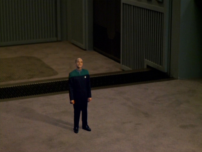 The EMH (Robert Picardo) shrunken down in Star Trek: Voyager