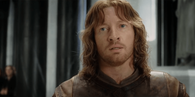 Faramir in Peter Jackson's The Lord of the Rings