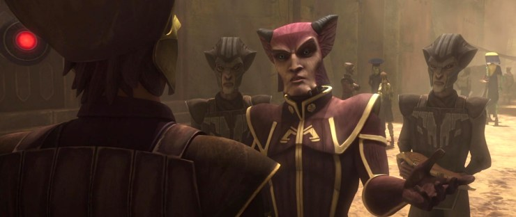 Star Wars, Clone Wars, Anakin talking to Zygerrians
