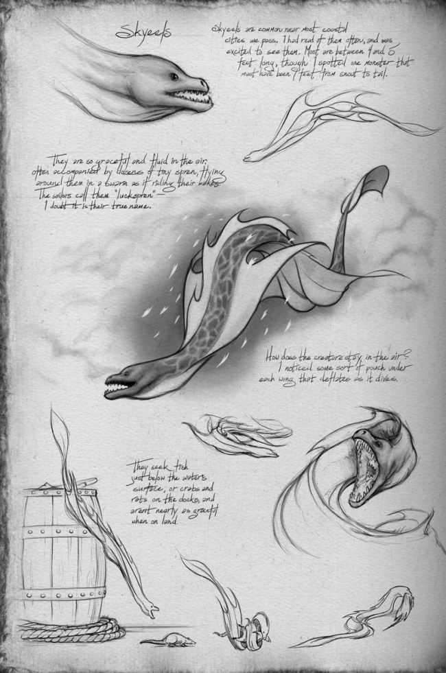 Shallan's sketches of skyeels