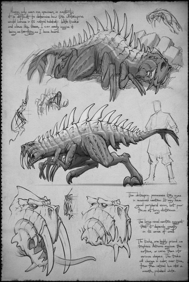 Shallan's sketches of a whitespine