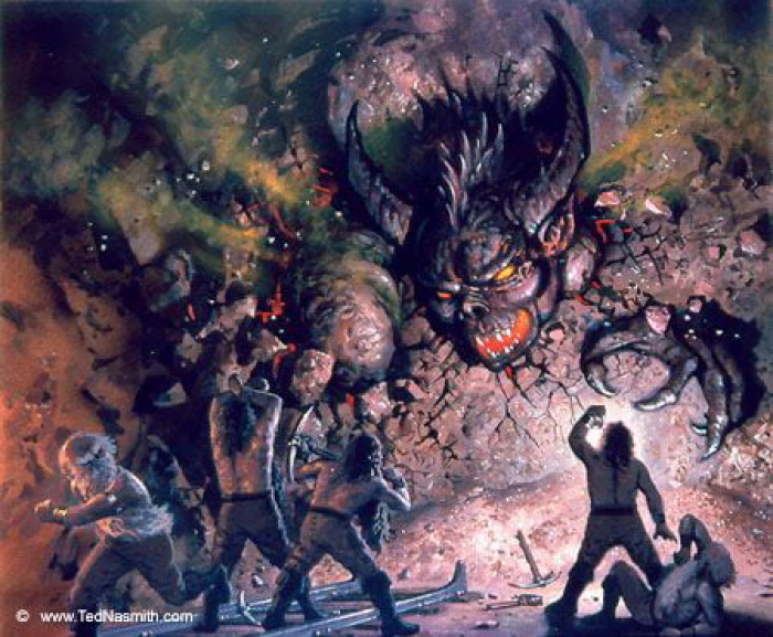 """The Dwarves Delve Too Deep"", de Ted Nasmith"
