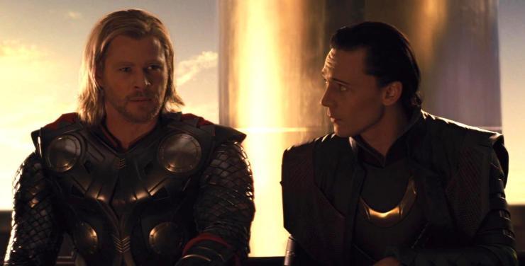 Thor, Thor and Loki sitting