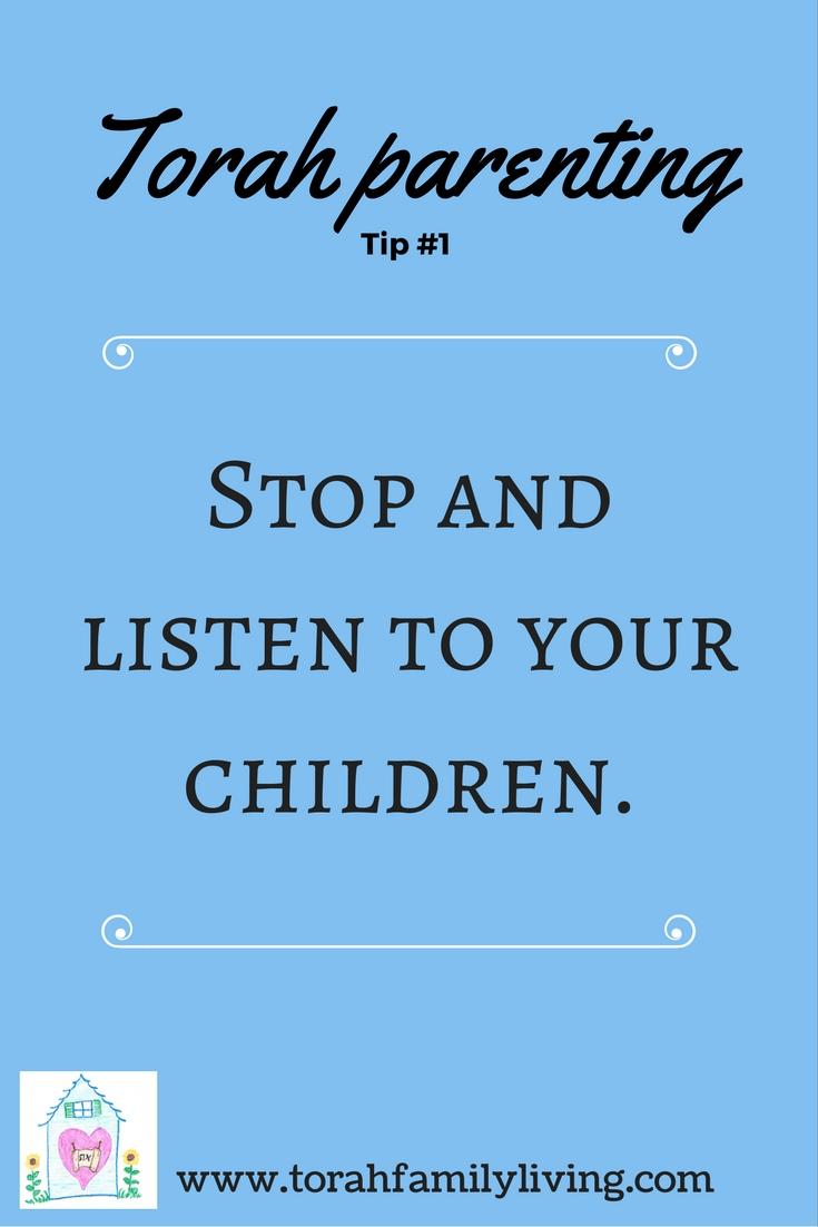 30 days of Torah parenting ~ Day 1