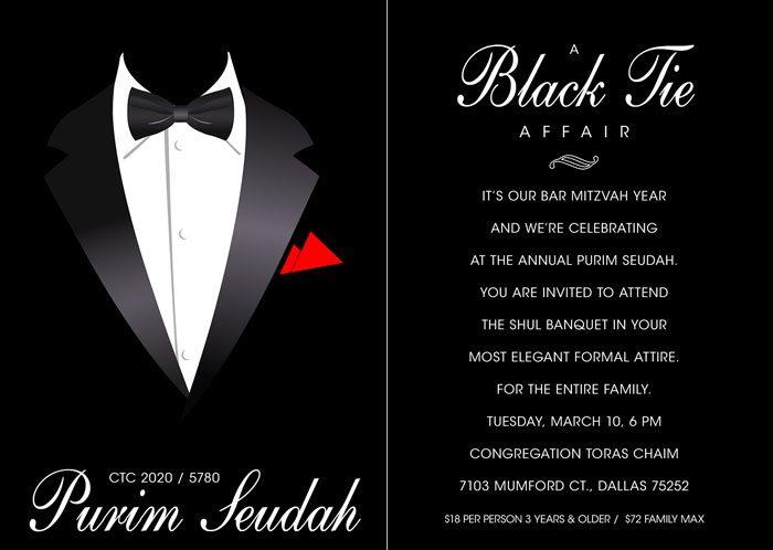 CTC Purim Banquet 2020: A Black Tie Affair 1