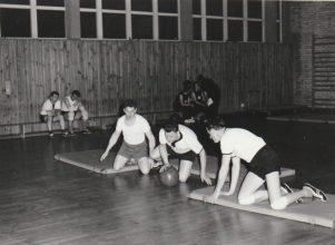 Rollball, mit Eberhard V., Gerhard Z. und Rainer B.