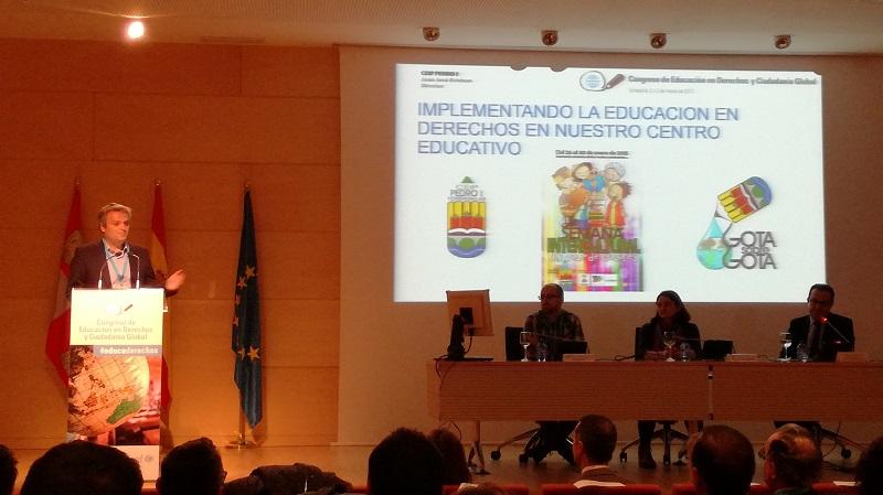 El CEIP Pedro I protagonista en el I Congreso de Educación en Derechos y Ciudadanía Global
