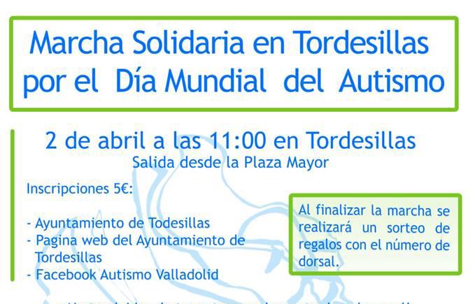 Tordesillas se volcará el 2 abril con el Autismo