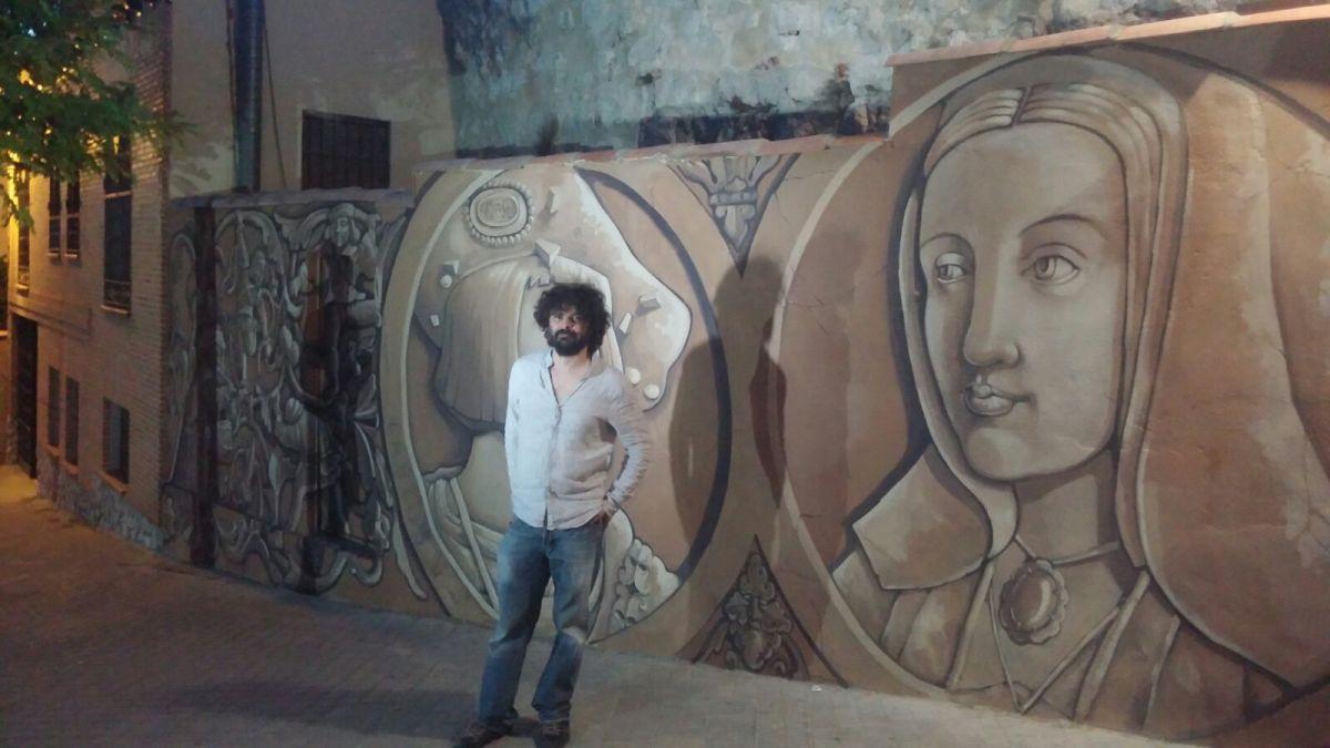 Nuevo mural en honor a Juana I y su hijo Carlos V en la Calle del Empedrado