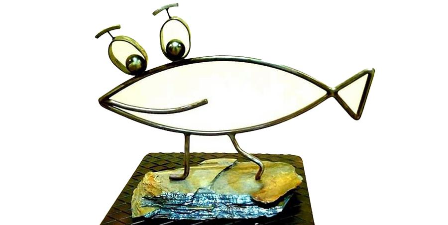 Lolo Sancho envía su apoyo, a través de una escultura, a la madre de Gabriel