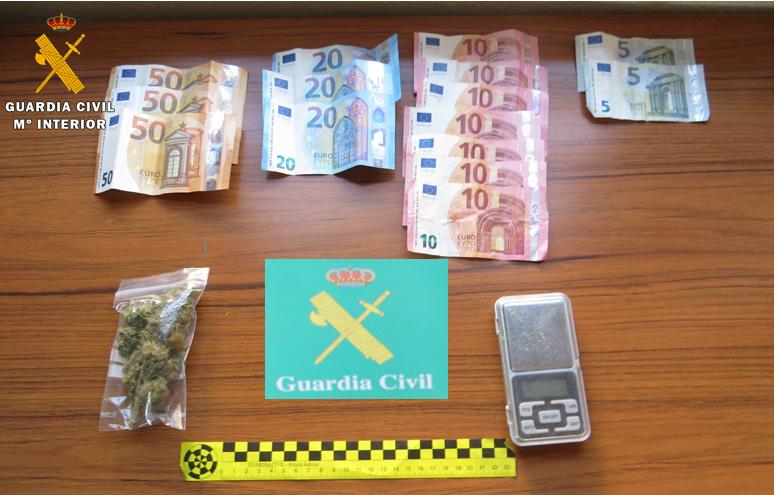 La Guardia Civil desmantela un punto de venta de drogas en Tordesillas