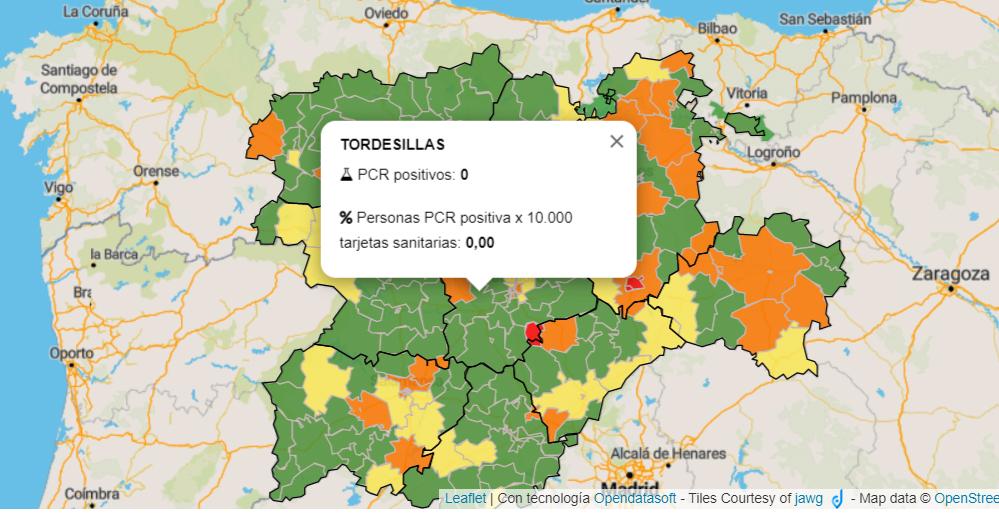 Tordesillas no notifica ningún positivo por coronavirus en los últimos siete días