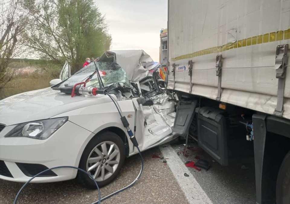 Un fallecido y tres heridos tras una colisión múltiple en la A-62 a la altura de Tordesillas