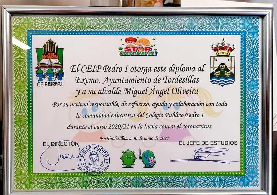 El CEIP Pedro I agradece al Ayuntamiento su «esfuerzo, ayuda y colaboración» en la lucha contra el Covid-19
