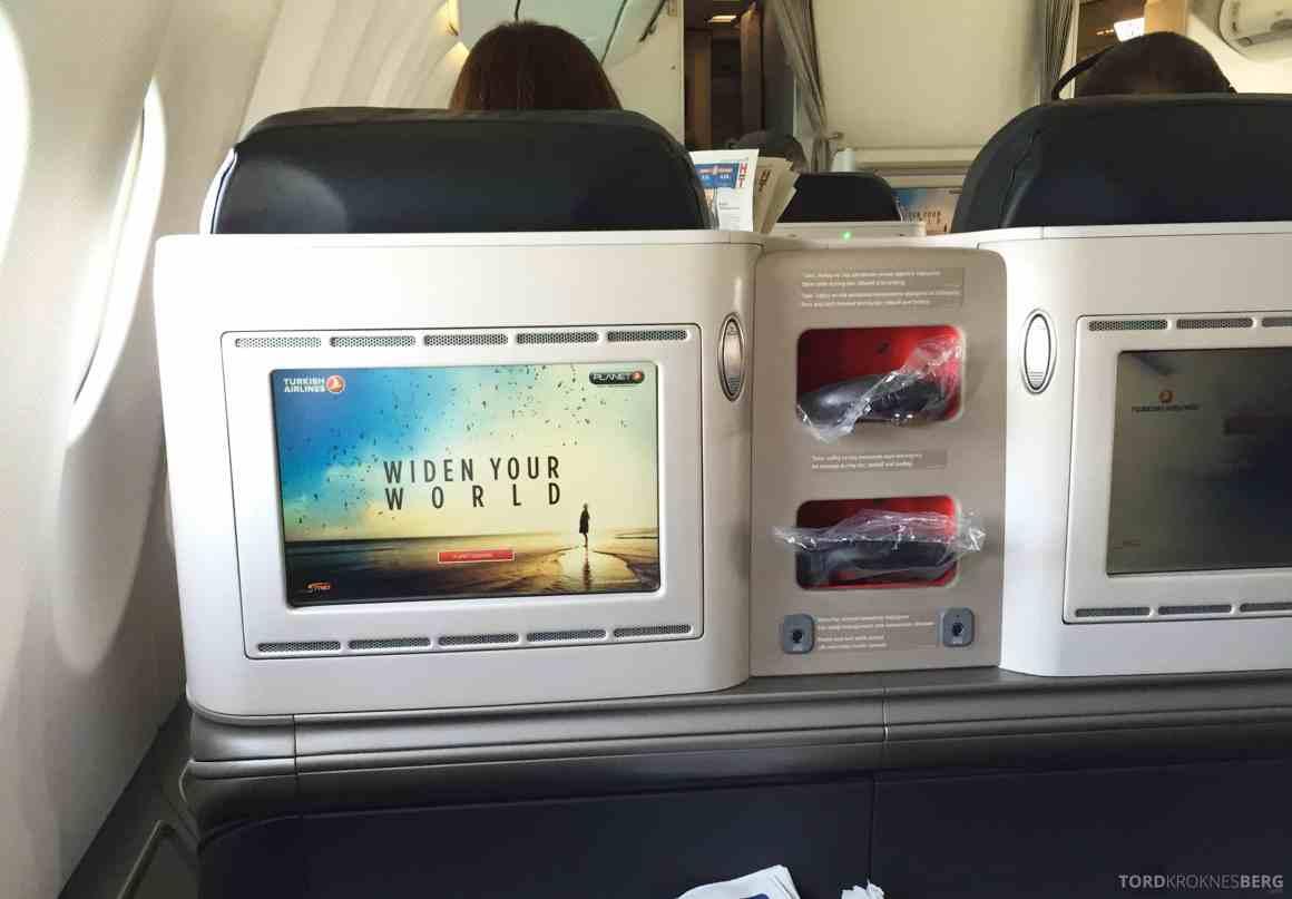 Turkish Airlines Business Class Boston skjerm