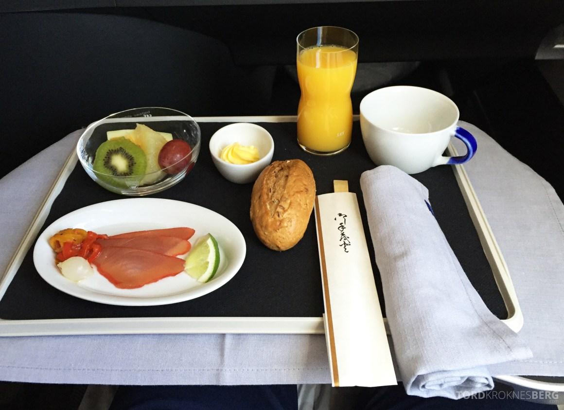SAS Business Class Tokyo Oslo forrett lunch