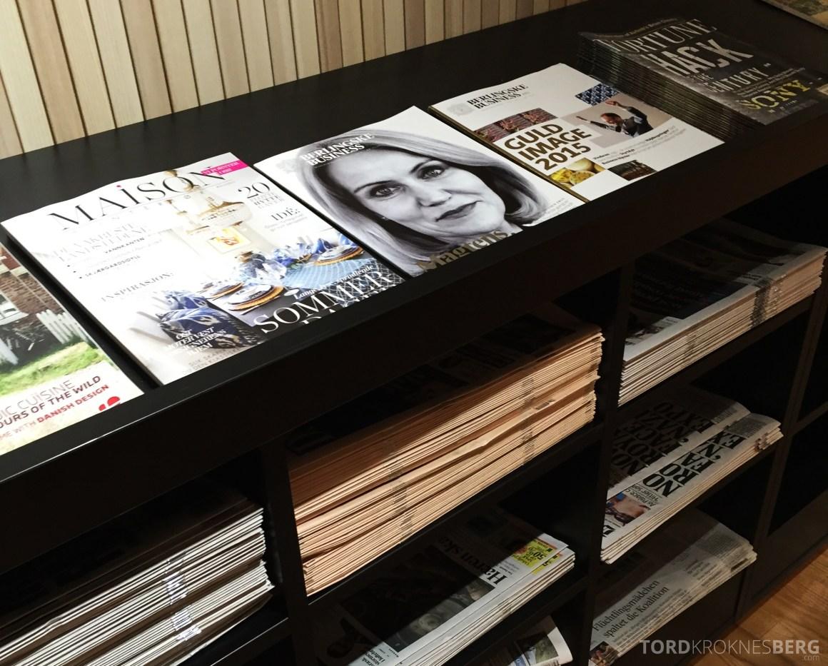 SAS Gold Lounge Oslo aviser og magasiner