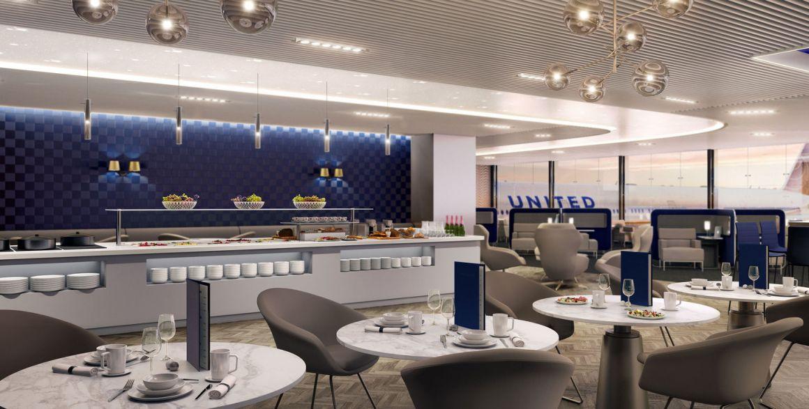 United Business Class Polaris lounge