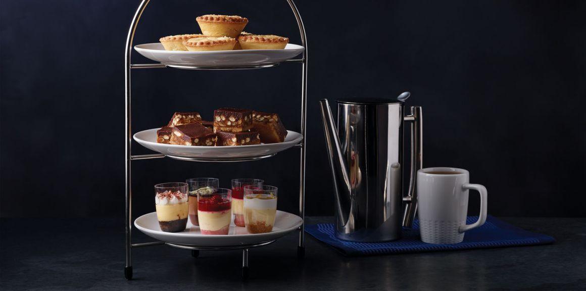 United Business Class Polaris dessert