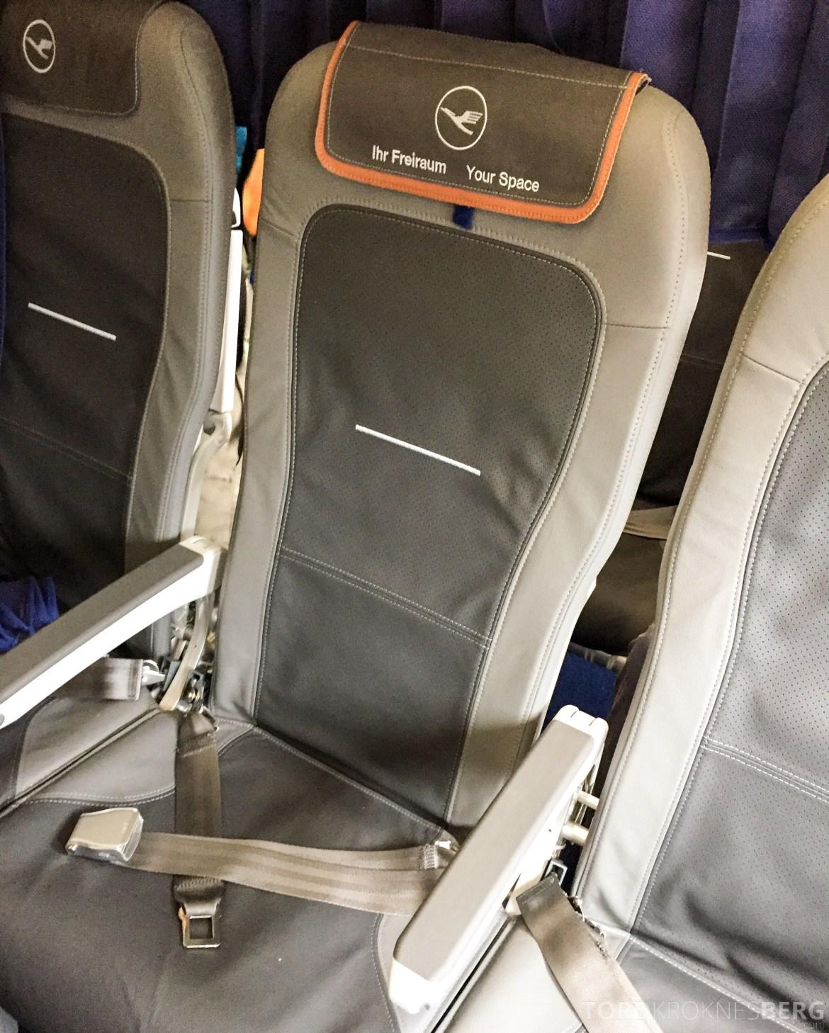 Lufthansa Business Class i Europa fra Oslo til München sete