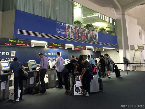 United Business Class check-in
