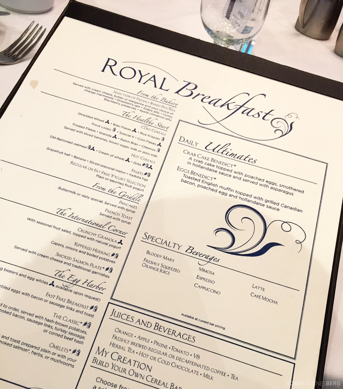 Royal Caribbean Adventure of the Seas frokost