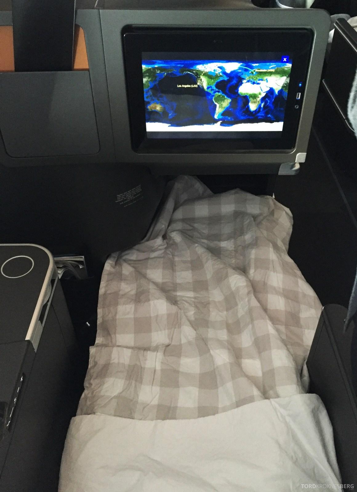 SAS Business Class fra Stockholm til Los Angeles seng