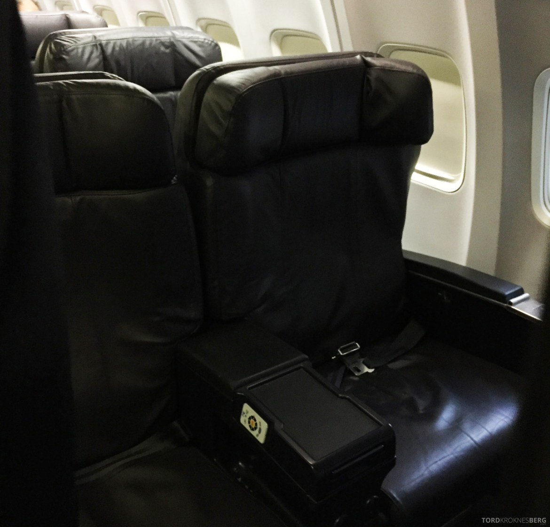 United Business Class San Juan til Houston sete