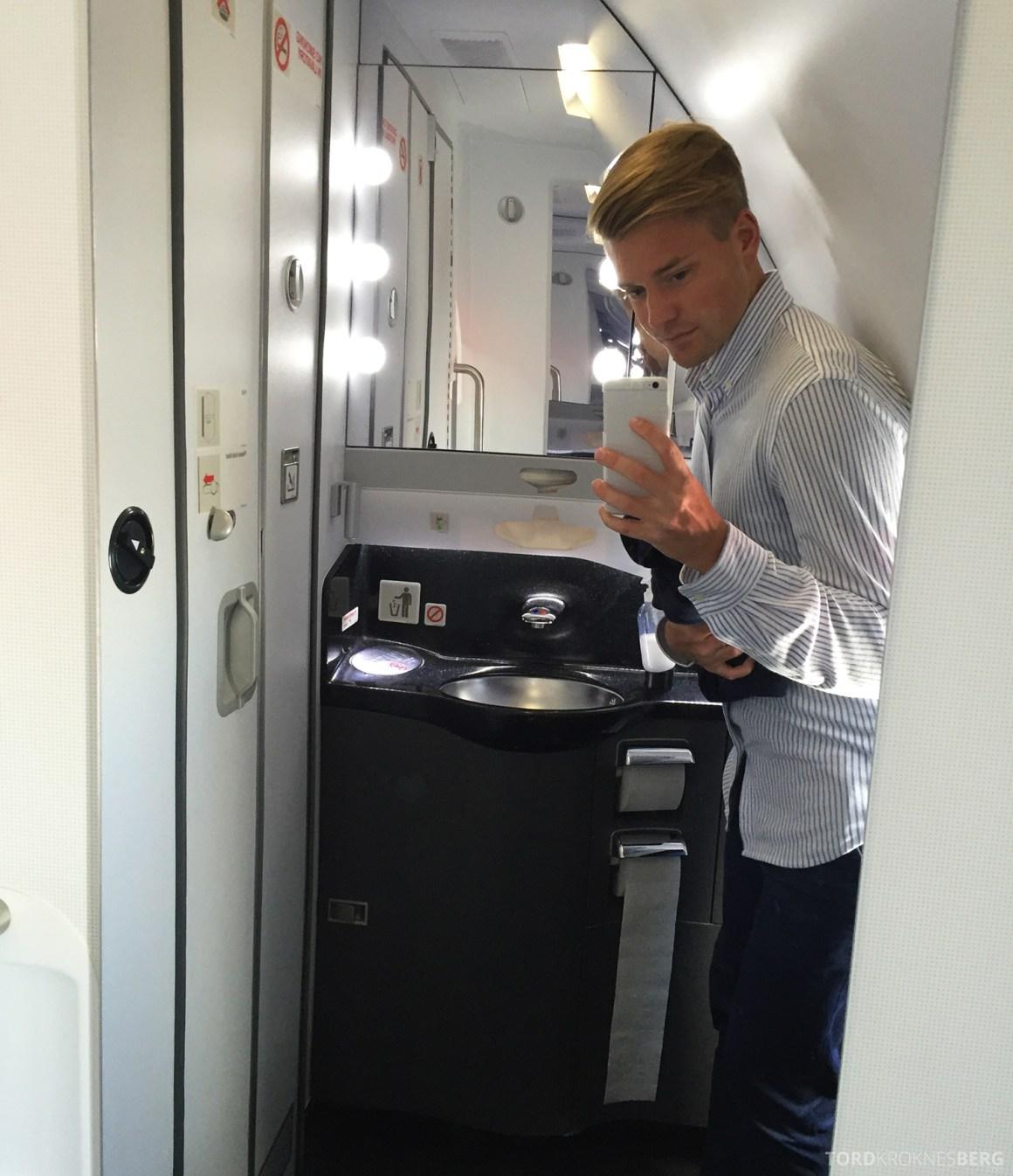 SAS Business Los Angeles toalett