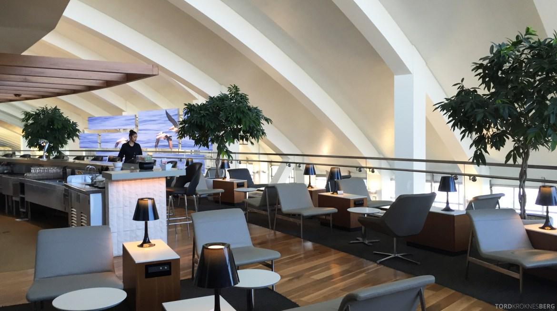 Star Alliance Gold Lounge LAX innendørs terrasse