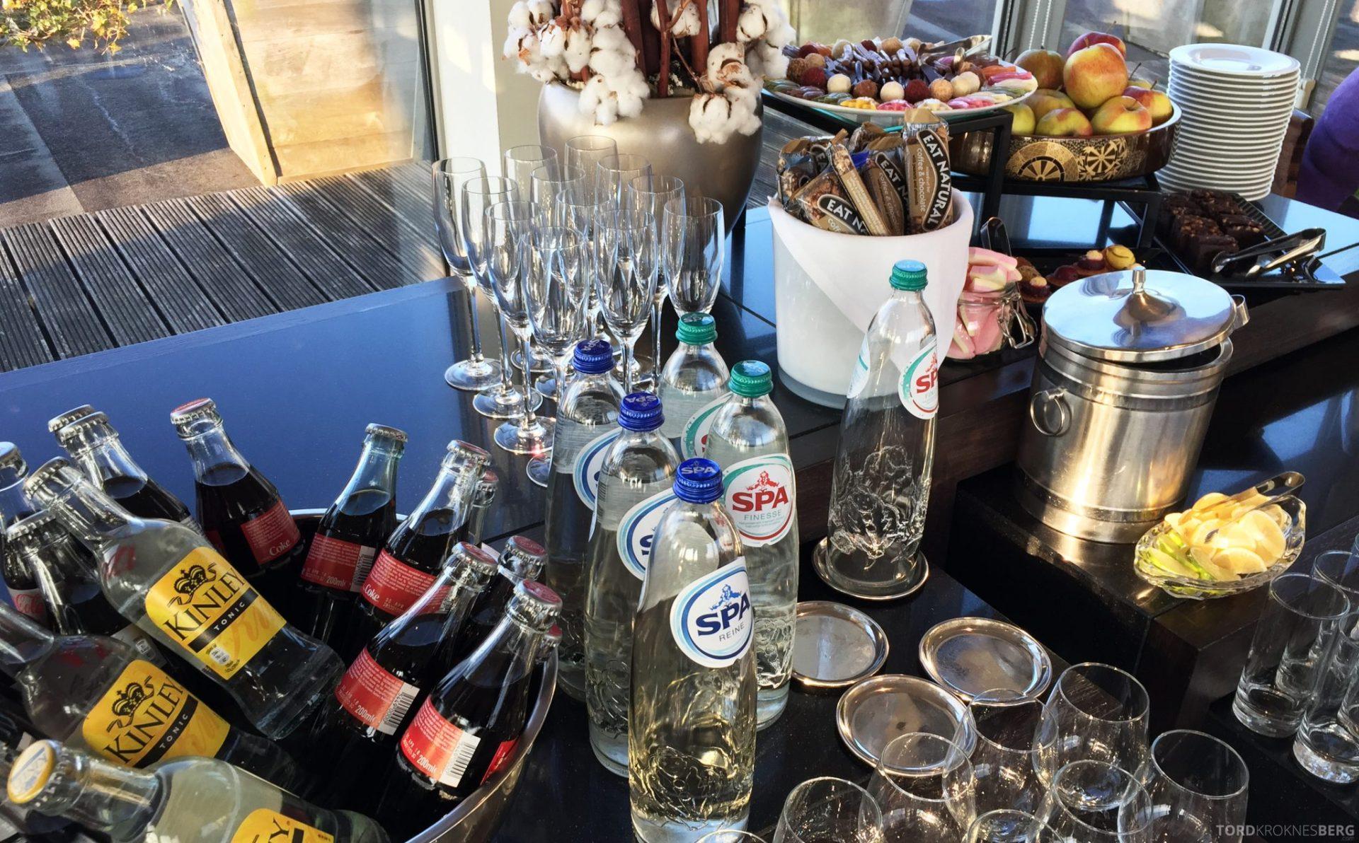 Hilton Amsterdam Executive Lounge drikke