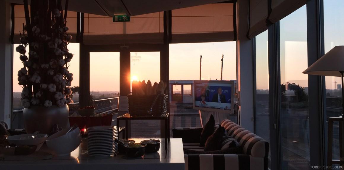 Hilton Amsterdam Executive Lounge solnedgang