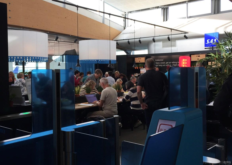 SAS Innenrikslounge Oslo inngang