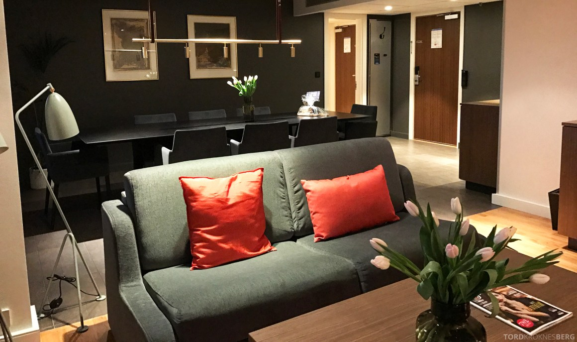 Radisson Blu Scandinavia Hotel suite sofa