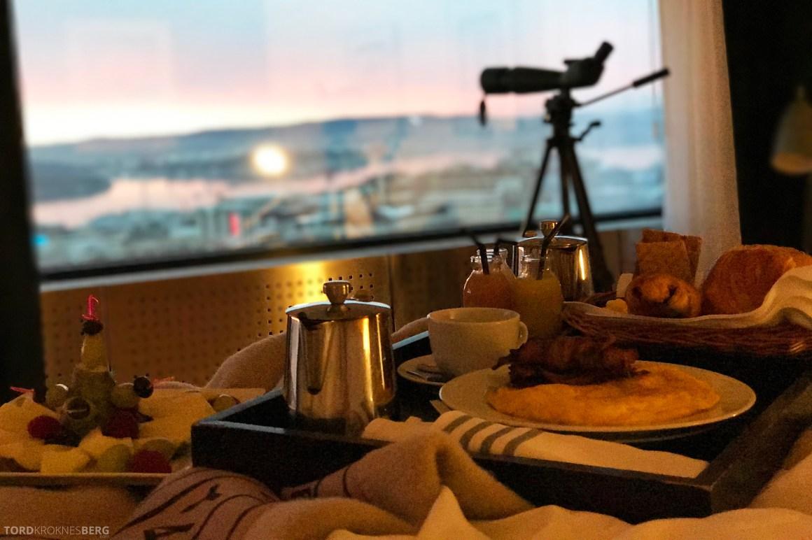 Radisson Blu Scandinavia Hotel suite frokost på sengen