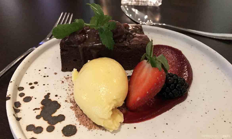 Restaurant Enzo Radisson Blu Oslo brownie