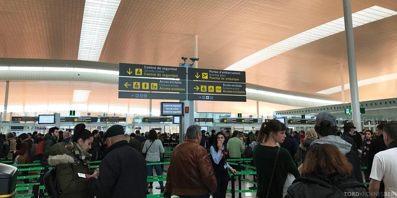 SAS Plus Barcelona sikkerhetskontroll