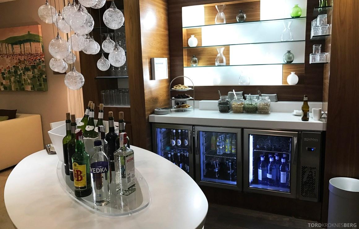 Hilton Barcelona Executive Lounge hors d'ouvre drikke