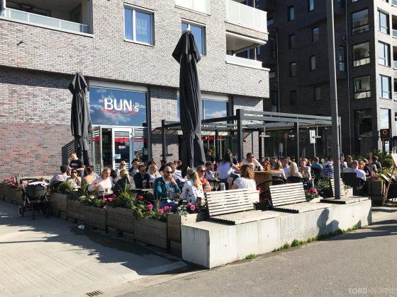 Buns Burgerbar Oslo utendørs