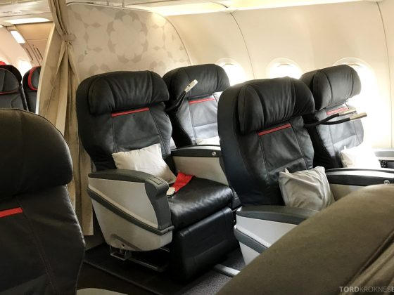 Turkish Airlines Business Class Oslo Istanbul kabin
